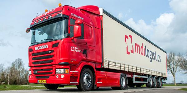 Vrachtwagenzeilen MDI logistics